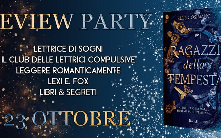 """""""Ragazzi della tempesta"""" di Elle Cosimano – Review Party"""